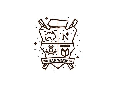WIP: Family Crest crest arrow australia north star thistle book pencil walking sticks draplin monoline vector
