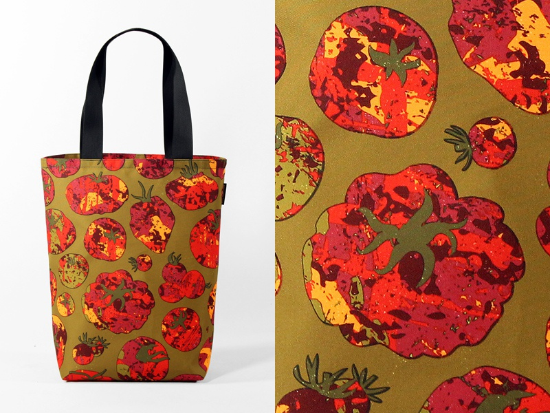 Heirloom Bag heirloom tomato vector overprint illustration bag