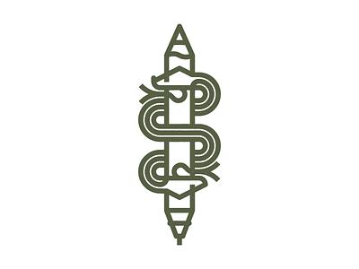 Analog Digital tongue analog digital tablet pencil snake geometry vector monoline