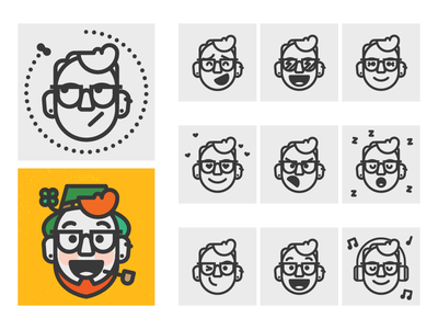 My Avatar–WIP emotion expressions character face monoline avatar