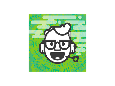 Happy 420 Avatar marijuana weed tie dye 420 pipe happy expressions character face monoline avatar