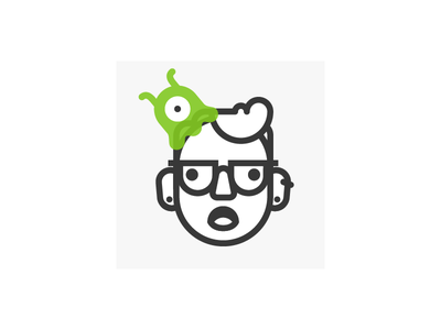 Brain Slug Avatar glasses monoline avatar futurama slug brain