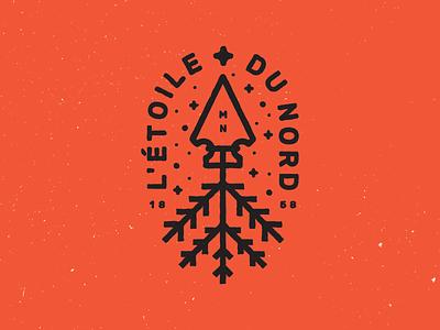 Du Nord spruce northstar mn icon vector texture north symbol tree arrow monoline