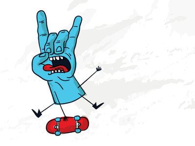 Screaming Hand doodle texture vector skateboard hand screaming phillips jim