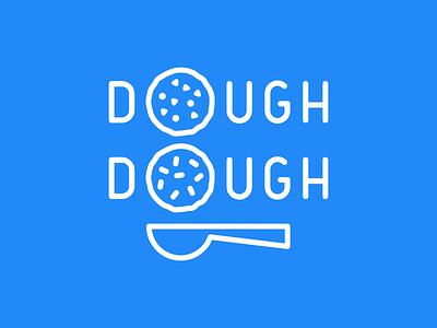 Dough Dough  spoon cookies dough food truck identity brand doughdough
