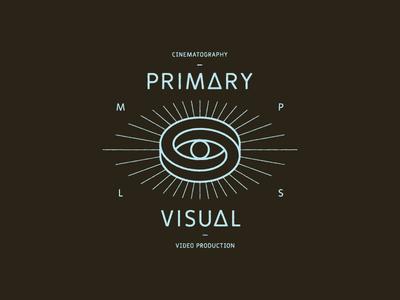Primary Visual Tee lockup eye graphic shirt identity brand illusion optical