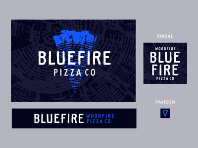 Blue Fire–Direction 3 pizza cutter blue food truck brand identity woodfire fire pizza