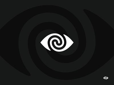 Hypnosis brand swirl twirl logo icon hypnosis eye