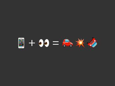 PSA 01 dummies psa death crash drive text phone equation math icon