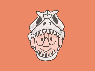 T-Rex Avatar fossil trex skull illustration brush vector texture halloween