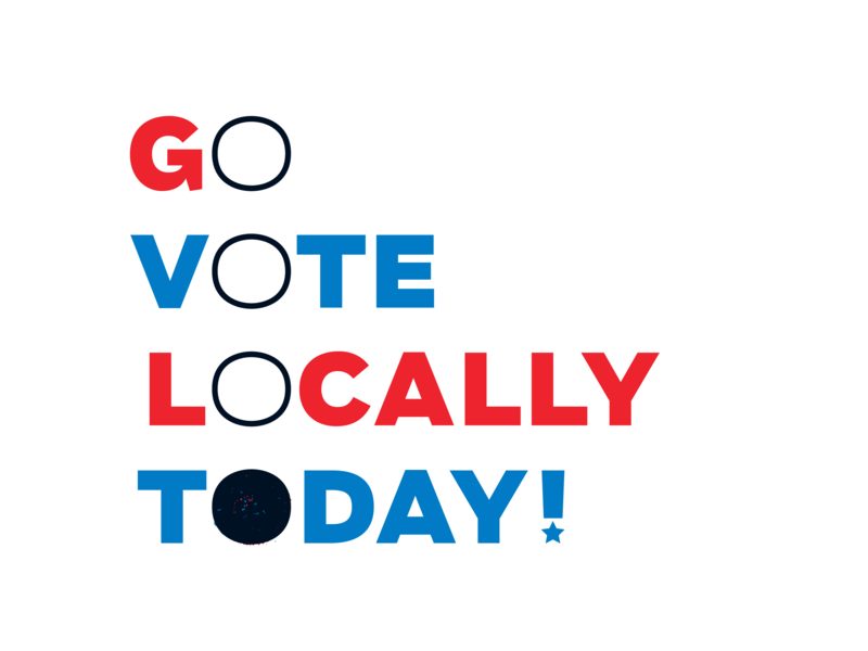 VOTE! Campaign govote vote vector typography texture midterms election concept brush