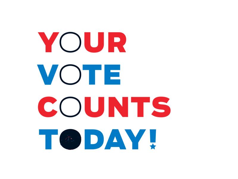 VOTE! vector typographic solution texture brush midterms ballot govote election vote