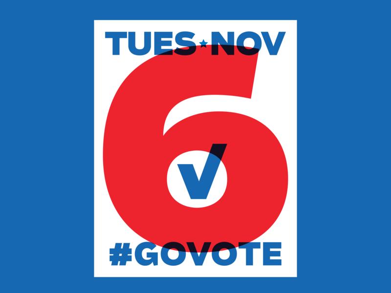 #GoVote usa election midterms overlay check checkmark typography govote vote 2018