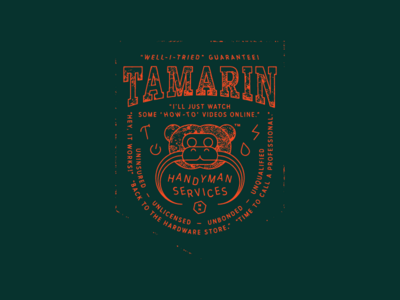 Tamarin shirt technology plumber electric hammer services handyman tamarin monoline
