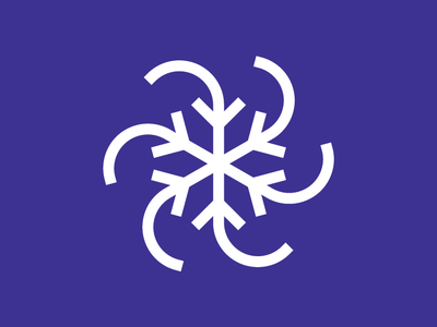 Polar Vortex logo wind winter cold snowflake icon monoline polar vortex vortex polar