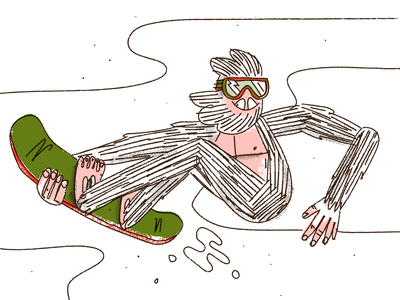 Shredi The Yeti textures custom brushes custom snowboard snow abominable snowman yeti shredi