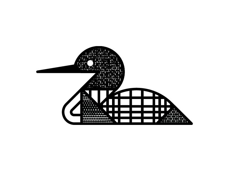 Loon geometry pattern texture north waterfowl bird minnesota mn monoline loon