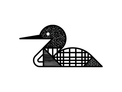 Loon geometry pattern texture north waterfowl bird minnesota mn monoline loon