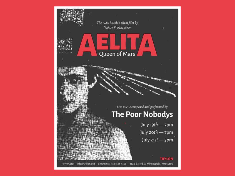 The Poor Nobodys X Aelita deco poor nobodys russian show film movie poster sci-fi space aelita gig poster music gig
