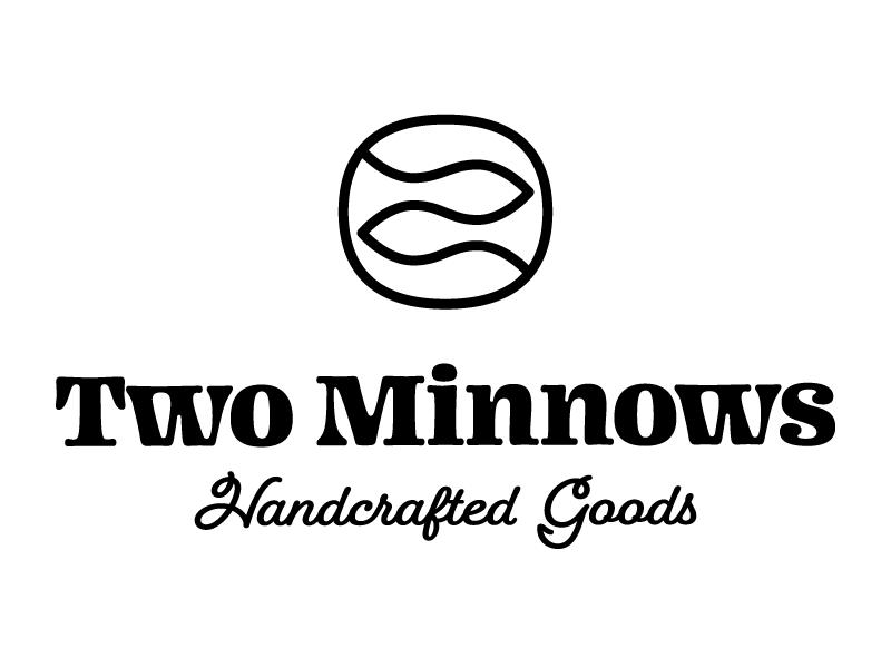 Two Minnows logo minnesota cartouche retail handmade geometric two brand minnows