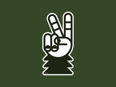Sasquatch–Peace Sign