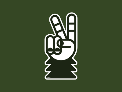 Sasquatch–Peace Sign tree icon symbol sticker sasquatch peace sign peace monoline geometric bigfoot