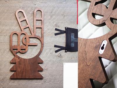 Sasquatch–Peace Sign sass sculpture design hand monoline millwork cnc wood peace sign peace sasquatch