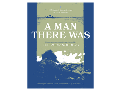 A Man There Was minneapolis boat halftone texture soundtrack film theater band gig poster poster music