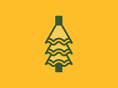 Pencil Shaving Tree halftone 2-color monline sharpener sharpen shavings holiday winter tree pencil