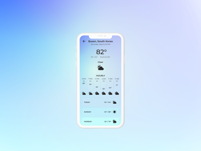 37 Weather App - Daily UI Challenge weatherapp 37 037 figma iosapp daily100 design uidesign ui dailyuichallenge dailyui
