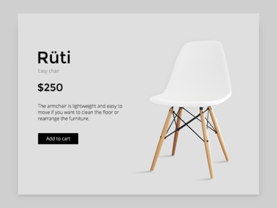 Rüti Chair Product Page product store ecommerce ikea clean ux ui web minimalism minimal chair