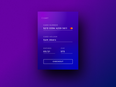 Credit Card Checkout gradientseverywhere app mobile ux ui checkout
