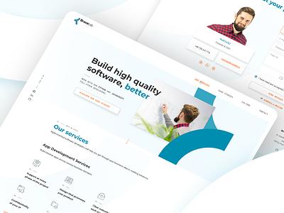 Software house website ui branding user interface brand identity webdesign ux web design user experience ui design