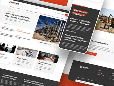 Website of the gas transmission operator design webdesign ui ux web design user experience ui design