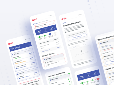 User interface for claim management dashboard for users workshops process flow ui ux user interface user experience product design ui design