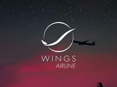 DAILY LOGO CHALLENGE D11/50 wings airline airline vector branding daily logo challenge logo dailylogochallenge