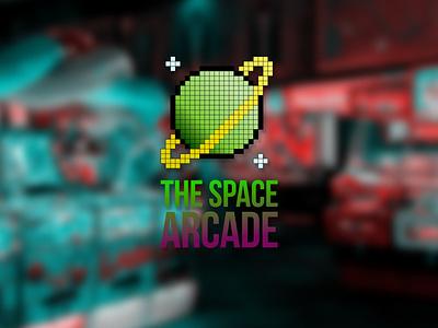 DAILY LOGO CHALLENGE D50/50 arcade arcade game 8bit logo 8bit art 8bit bit illustration branding vector typography logo design daily logo challenge dailylogochallenge