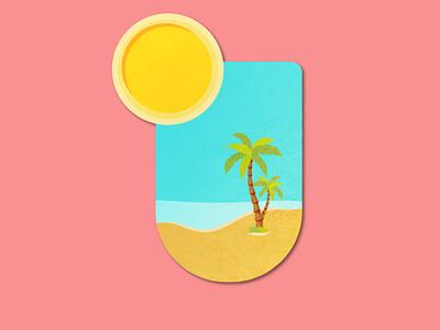 Celebrating Summertime beach sun dribbleweeklywarmup summertime summer warmup weekly challenge weekly warm-up weeklywarmup palmtrees palmtree pins pin badge design badge logo badgedesign badge icon vector dribbbleweeklywarmup