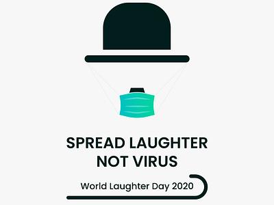 WORLD LAUGHTER DAY 2020 design illustration chaplin covid19