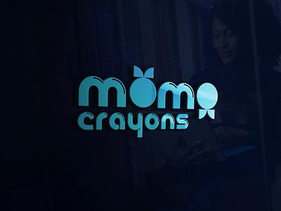 Momo Crayons Logo Design Work digital marketing illustration digital marketing company digital marketing agency logo branding logo designs logodesign logo designer logo design