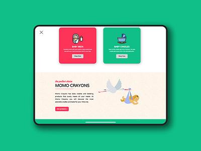 Momo Crayons Website Design Work website development company website designing website design company website website development website concept website design