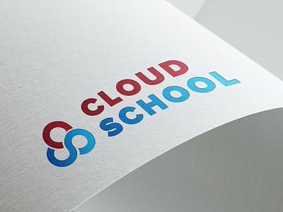 CLOUD SCHOOL LOGO DESIGN WORK graphic design design vector digital marketing digital marketing agency illustration creative design digital marketing company logo design branding logo