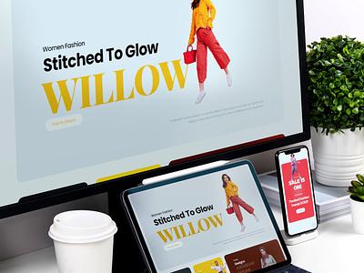 WILLOW WEBSITE DESIGN WORK kerala ui ux illustration graphic design logo creative design digital marketing agency digital marketing services branding design digital marketing digital marketing company