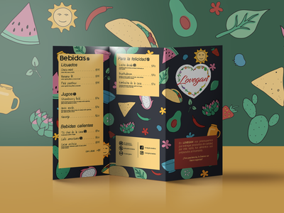 Menu Design and Illustrations graphic design typography illustrations taco mockup lineart food card menu layout branding illustration design