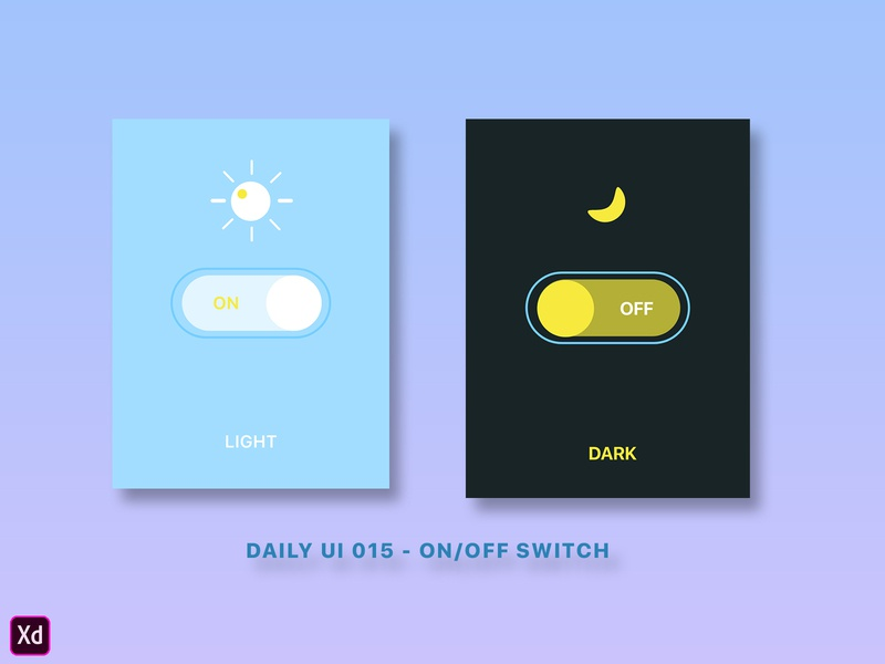 Daily UI 015 - On/Off Switch appdesign app ux ui button dailyuichallenge dailyui015 dailyui