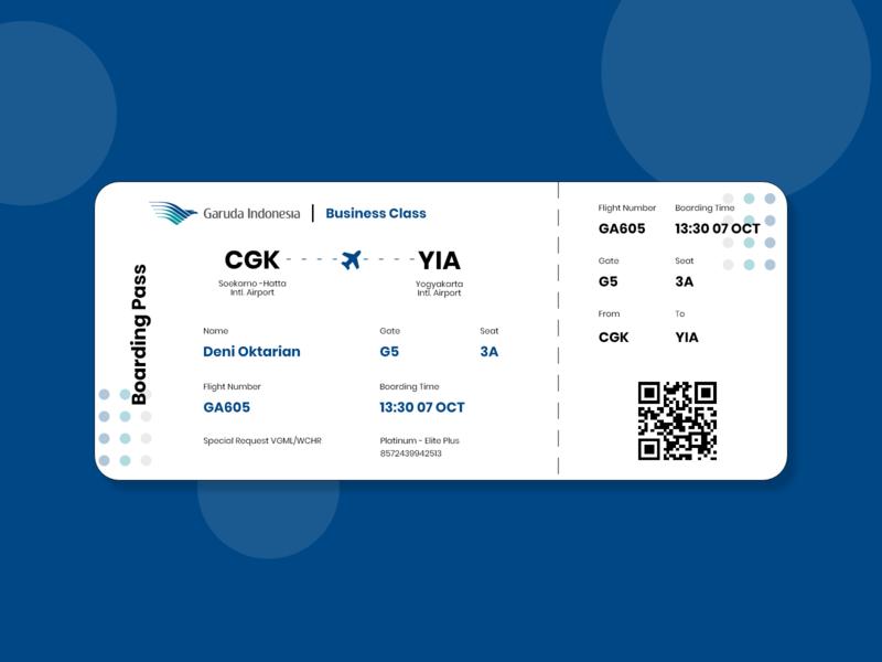 Daily UI 024 - Boarding Pass garuda indonesia garudaindonesia boarding pass daily ui 024 flatdesign appdesign dailyuichallenge dailyui daily ui