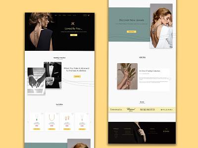JK-Jewelry Online Shop Landing Page landing page web design branding online shop jewelry graphic design ui