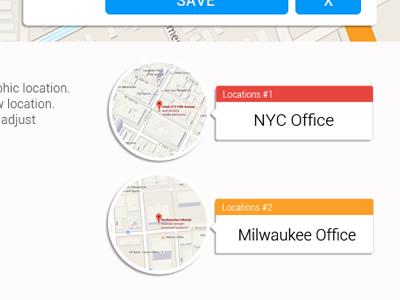 Saved Geo Fences ux location geo ui website