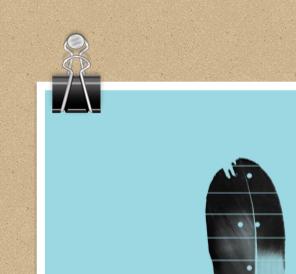 Binder Clip psd illustration