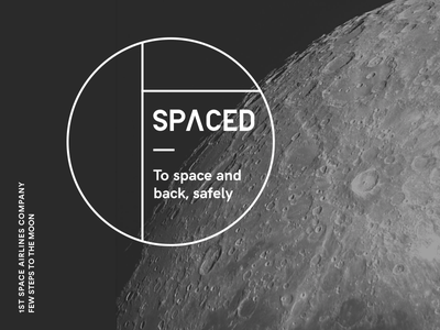SPACED ux ui travel spacedchallenge spaced space moon brand logo